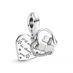 Pandora Cats & Hearts Dangle Charm 799546C01