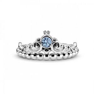 Pandora Disney Cinderella Blue Tiara Ring 199191C01