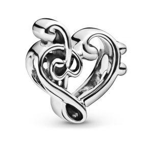Pandora Heart Triple Clef Charm