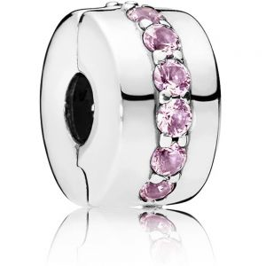 Pandora Pink Sparkling Row Clip Charm 791972PCZ