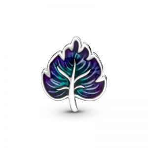 Pandora Purple & Green Leaf Charm 799542C01
