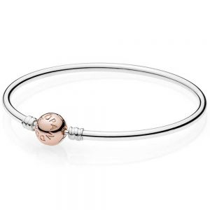 Pandora Rose Smooth Clasp Moments Bangle 
