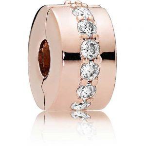 Pandora Rose Sparkling Row Clip Charm