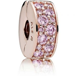 Pandora Rose Pink Pave Clip Charm 781817PCZ