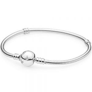 Pandora Moments Sparkling Mickey Mouse Snake Chain Bracelet-590731cz-16, 17, 18, 19, 20, 21, 23