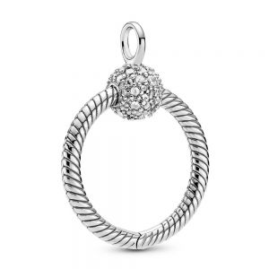 Pandora Moments Small Pavé O Pendant - 399097C01