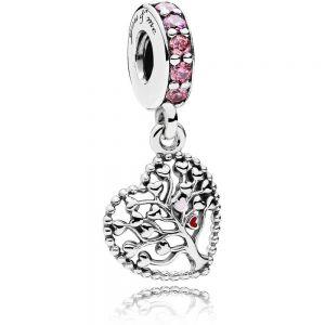 Pandora Pink Family Tree Dangle Charm - 796592CZSMX