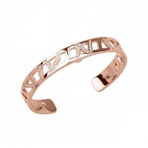 Les Georgettes Perroquet 8mm Rose Gold and Zirconia Bangle