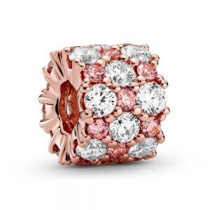 Pandora Rose Pink & Clear Sparkle Charm - 788487C01