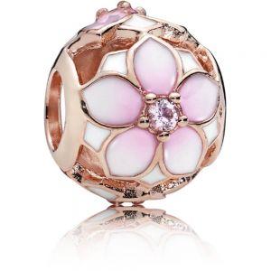 Pandora Rose Openwork Pink Magnolia Flower Charm - 782087NBP