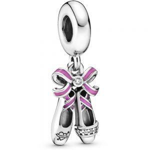 Pandora Pink Ballerina Shoes Dangle Charm - 798339CZ