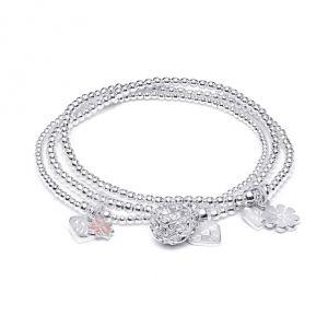 Annie Haak Little Posy Silver Bracelet Stack