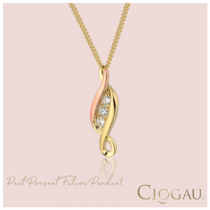 Clogau Past Present Future Pendant Gold
