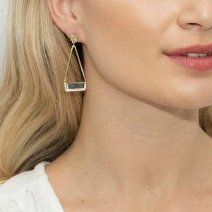 Sarah Alexander Primavera Labradorite Triangle Drop Earrings sa-primae