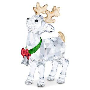 Swarovski Crystal Joyful Santa's Reindeer