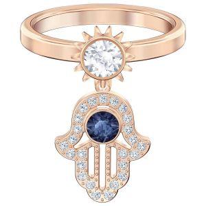 Swarovski Symbolic Charm Ring - White - Rose Gold Plating