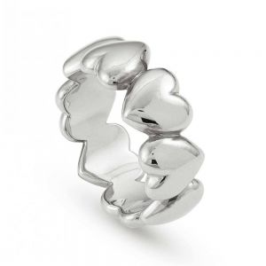 Nominations Rock in love silver ring - Size 16 - 147510_010_024