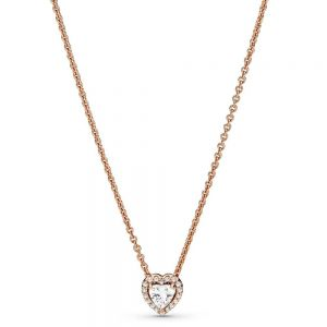 Pandora Rose Sparkling Heart Collier Necklace - 388425C01