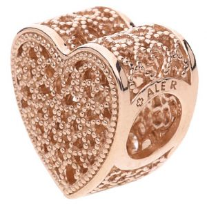 Pandora Filigree & Beaded Heart Charm - 781811