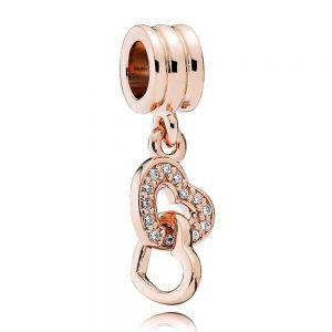 Pandora Interlocking Hearts Dangle Charm - 781242CZ