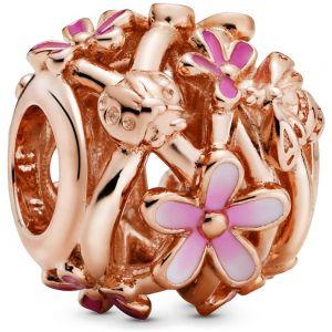 Pandora Openwork Pink Daisy Flower Charm - 788772C01