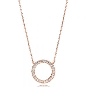 Pandora Rose Circle of Sparkle Necklace 45cm - 580515CZ