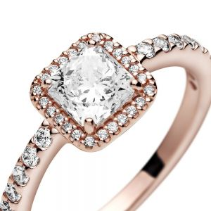 Pandora Rose Square Sparkle Halo Ring - 188862C01