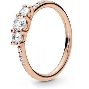 Pandora Rose Clear Three-Stone Ring - 186242CZ