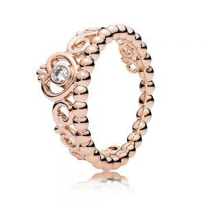 Pandora Rose Princess Tiara Crown Ring - 180880CZ