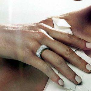 Swarovski Vio Ring Crystal, Rhodium Plated