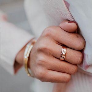 Annie Haak Samara Swarovski Rose Gold Ring, Clear Crystal - Large