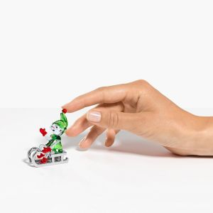 Swarovski Crystal Santa's Elf on Sleigh 5533947