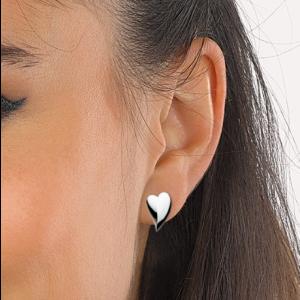 Kit Heath Desire Lust Heart Stud Earrings