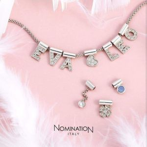 Nomination SeiMia pendant with letter K - Sterling Silver and Zirconia