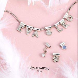 Nomination SeiMia pendant with pink Cubic Zirconia