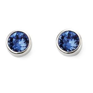 September Birthstone Earrings - Sterling Silver