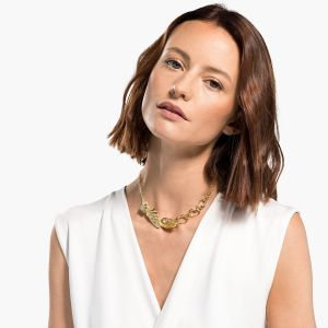 Swarovski Shell Necklace, Light multi-coloured, Gold-tone plated