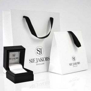 Sif Jakobs Cetera - 18k Gold Plated with White Zirconia - Size 56 -SJ-R3010-CZ-YG