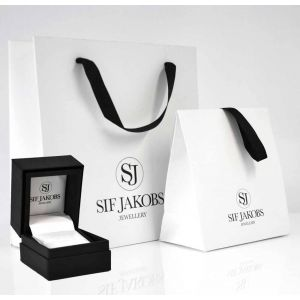Sif Jakobs Ellera Piccolo Earrings, gold with pink zirconia SJ-E1066-PK(YG)