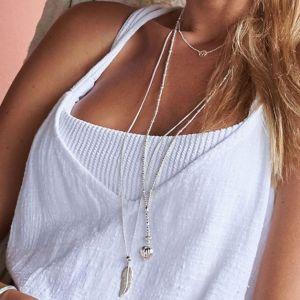 Annie Haak Silver Feather Necklace