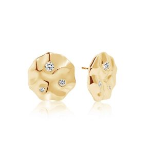 Sif Jakobs Acerra Earrings, gold with white zirconia