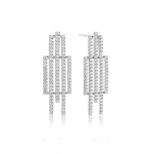 Sif Jakobs Rufina Cinque earrings with white zirconia