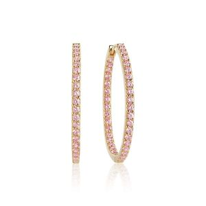 Sif Jakobs Bovalino Earrings, gold with pink zirconia
