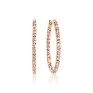 Sif Jakobs Bovalino Earrings, gold with pink zirconia SJ-E1790-PK(YG)