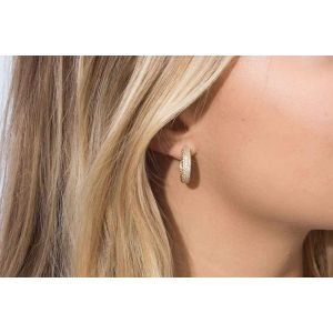 Sif Jakobs Earrings Imperia - 18k Gold Plated with White Zirconia
