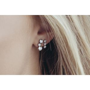 Sif Jakobs Earrings Sardinien Tre Piccolo with White Zirconia