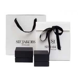 Sif Jakobs Panzano Bangle - Silver with Black Zirconia SJ-B0095-BK