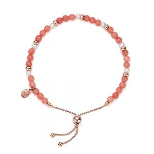 Jersey Pearl Sky Bracelet, Scatter Style in Coral