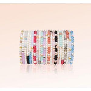 Jersey Pearl Sky Bracelet, Scatter Style in Rose Quartz