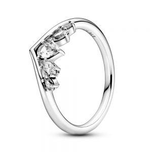 Pandora Sparkling Pear & Marquise Wishbone Ring - 199109C01